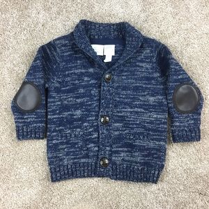 Baby Boy Elbow Patch Cardigan Sweater